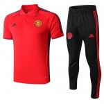 Camiseta Polo Manchester United 19-20 red black