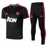 Camiseta entrenamiento Manchester United black red 18-19