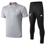 Camiseta Polo Liverpool Gris 2018-19