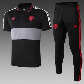 Camiseta Polo Manchester United 19-20 black gris